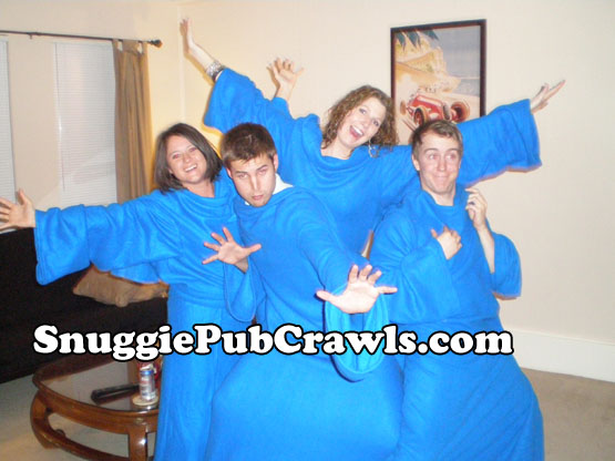 Dallas Snuggie Pub Crawl Pre-Crawl Warmups. March 27, 2009.