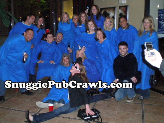What do you do for attention if you don't have a Snuggie? Do the splits. That always works.